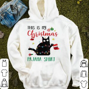 Top Black Cat With Christmas Socks Costume Funny Christmas Gifts sweater