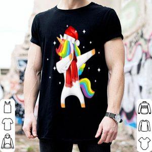 Top Dabbing Unicorn Tee Christmas Girls Santa Hat Scarf Xmas sweater