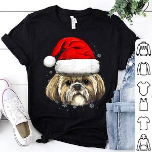 Top Shih Tzu Santa Hat Christmas Boys Girls Xmas Gift sweater