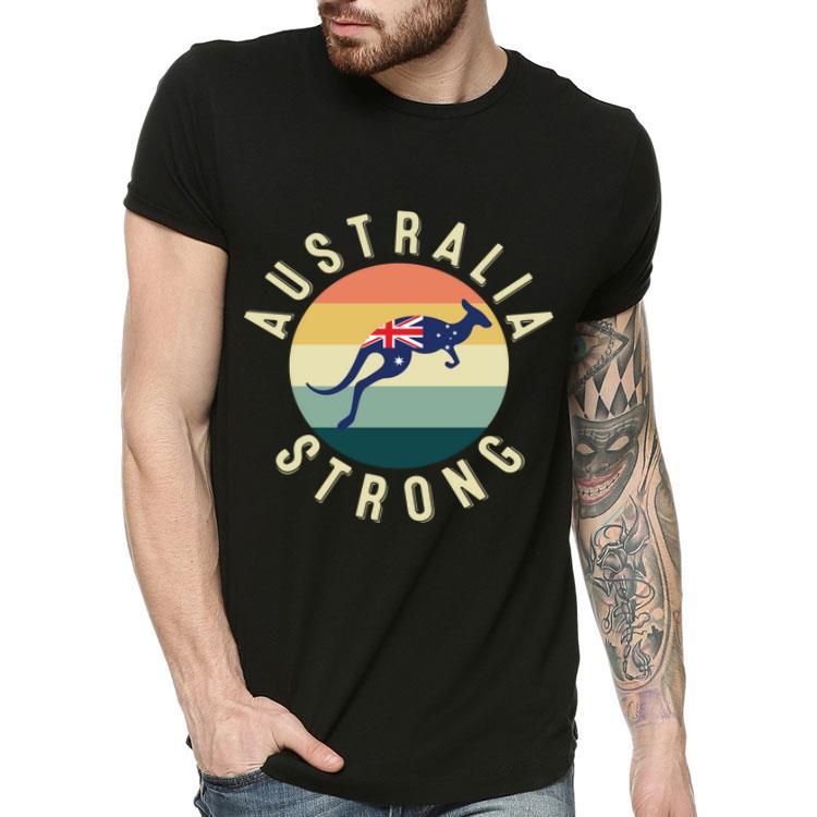 Australia Strong Kangaroo Pray For Australia Retro Shirt