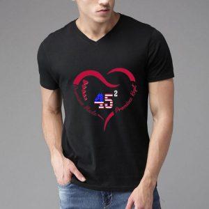 Heart 45 Donald Trump Promises Made Promises Kept shirt