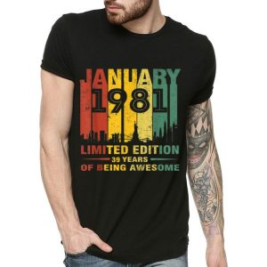 January 1981 39 Year Old Shirt 1981 Birthday Vintage shirt