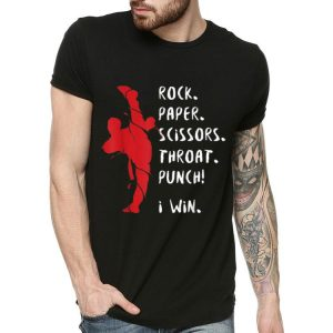 Karate MMA Rock Paper Scissors Throat Punch I Win shirt