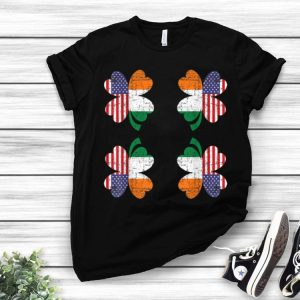 Saint Patricks Day Irish Four Leaf Clover Ireland American shirt