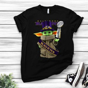 Star Wars Baby Yoda Baltimore Ravens Cup shirt