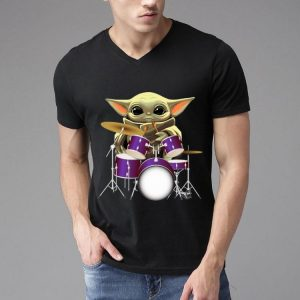 Star Wars Baby Yoda Playing Drum Drummers shirt