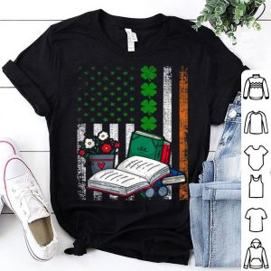 Awesome Irish American Flag Lucky Librarian St. Patrick's Day shirt