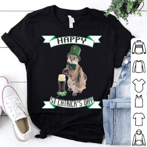 Beautiful Happy St Catrick's Day St Patrick's Day Funny Cat shirt