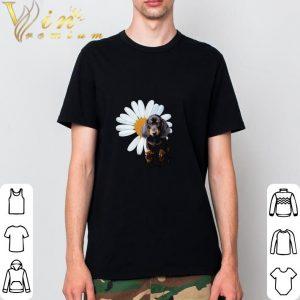 Best Dachshund and a Daisy flower white shirt