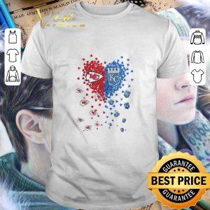 Cheap Love Kansas City Chiefs and Kansas City Royals tiny hearts shape shirt