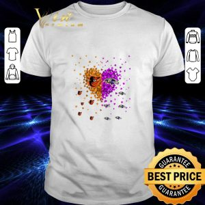 Funny Baltimore Orioles and Baltimore Ravens heart shirt