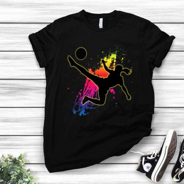 Girls & Women's Soccer Football Watercolor shirt