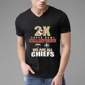 Kansas City Chiefs 2x Super Bowl Champions 1969 2019 We Are All Chiefs shirt