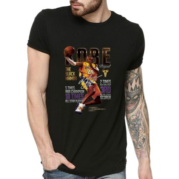 Kobe Bryants The Black Mamba 5 Times NBA Champions Signature shirt