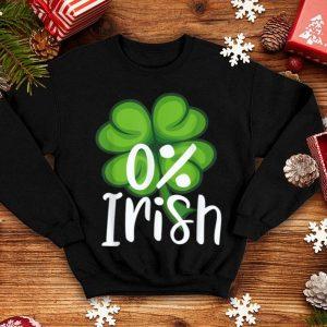 Official 0% Percent Irish St Patricks Day Men Women shirt