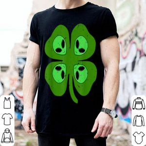Original Cool Alien Four Leaf Clover St. Patrick's Day Gift shirt