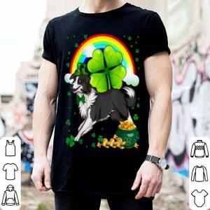 Original St Patricks Day Border Collie Shamrock Pet Dog Lover shirt