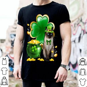 Premium Cat Shamrock St Patricks Day Cat Meowy Irish Gift shirt