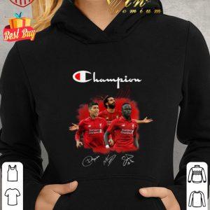 Premium Champion Roberto Firmino Mohamed Salah and Sadio Mane Signatures shirt 1