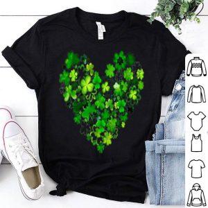 Premium Love Heart Shamrock Lucky Clover St Patricks Day Funny shirt
