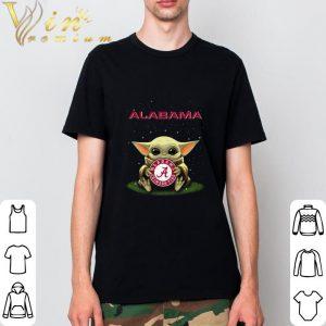 Pretty Baby Yoda hug Alabama Crimson Tide Logo Star Wars shirt