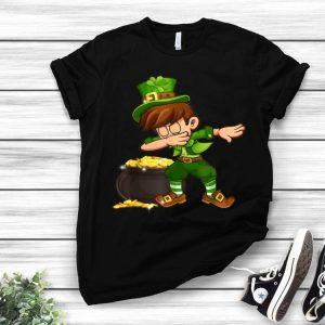 Shamrock Dabbing Boys Leprechaun St. Patrick's Day shirt