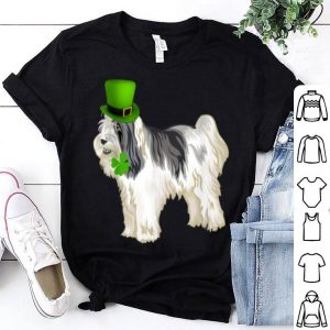 Top St Patrick's Day Tibetan Terrier Dog Irish Shamrock shirt