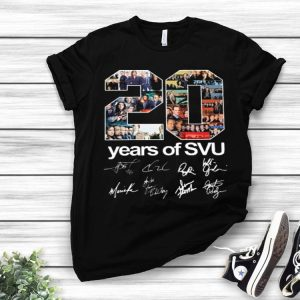 20 years of SVU Law & Order all signatures shirt