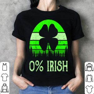 Awesome 0% Irish Funny Saint Patrick's Day 4 Leafs Clover Vintage shirt