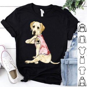 Awesome Gifts Labrador Dog I Love Mom Tattoo Gift Mother's Day shirt