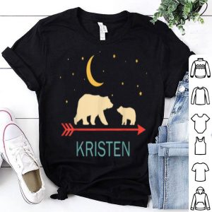 Awesome Kristen Name Gift Personalized Mama Bear With 1 Cub shirt