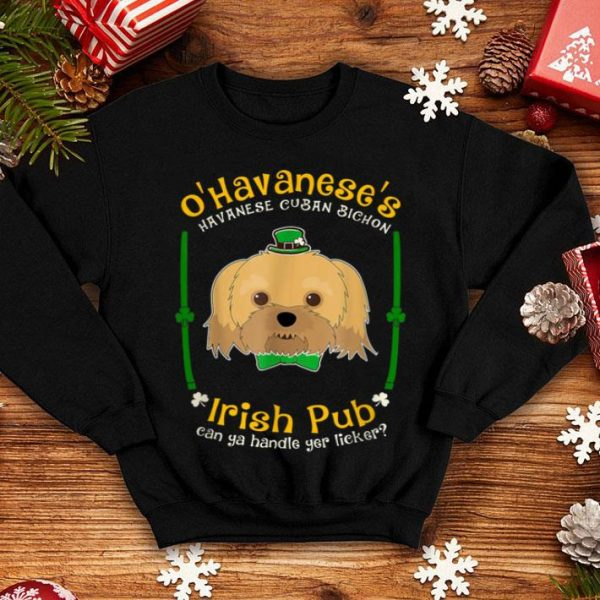 Awesome St Patrick's Havanese Funny Irish Pub Lover shirt