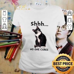 Cheap Shhs No One Cares black Cat shirt