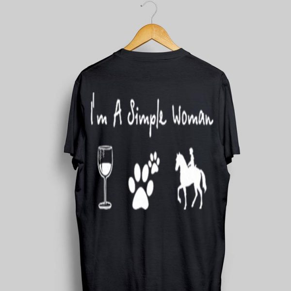 Horse wine paw dog i'm a simple woman sweater