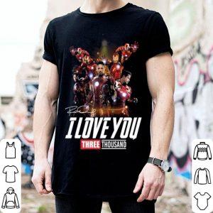 Iron man Tony Stark I love you three thousand signature shirt