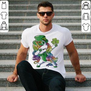 LGBT Dabbing unicorn St. Patrick's day shirt