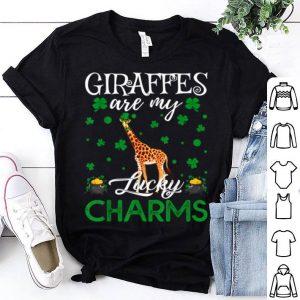Nice Giraffes Are My Lucky Charms Giraffe St. Patrick's Day shirt