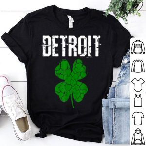 Nice St. Patrick's Day Shamrock Detroit Michigan Irish Men Women shirt