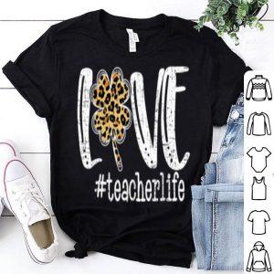 Official Cute Love Teacher Life Leopard St Patrick's Day Shamrock shirt