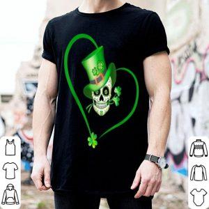 Official Heart Happy St Patrick's Day Sugar Skull shirt