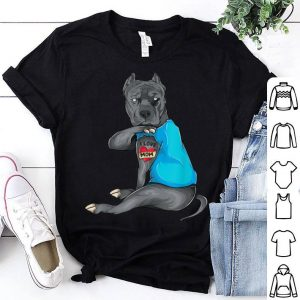Official Mother's Day Gifts Funny Dog Pitbull I Love Mom Tattoo shirt