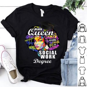 Original Pretty Black Queen Social Work Degree For Mother's Day shirt