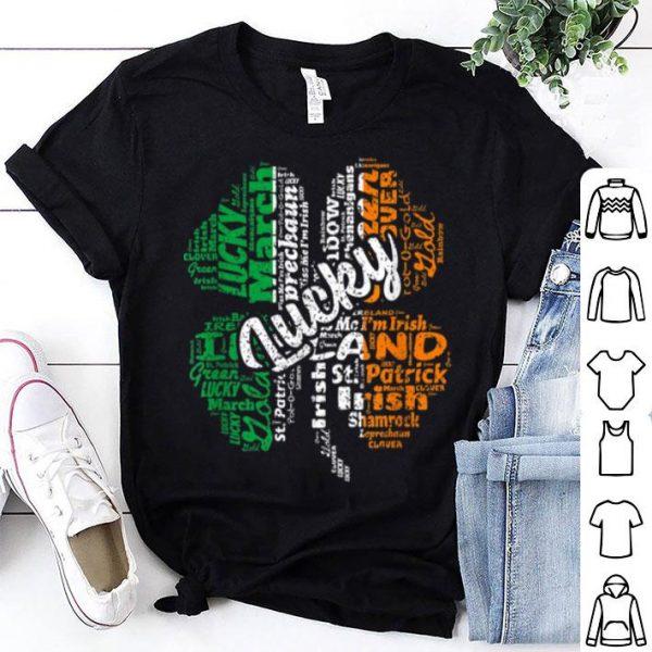Premium Irish Flag St. Patrick's Day Lucky Shamrock Words Gift shirt