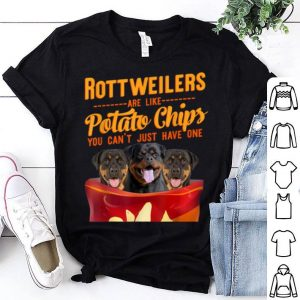 Premium Rottweilers And Potatoes Chips Funny Dog Mama Papa shirt