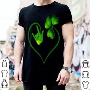 Pretty St Patricks Day I Love You Asl Sign Language shirt