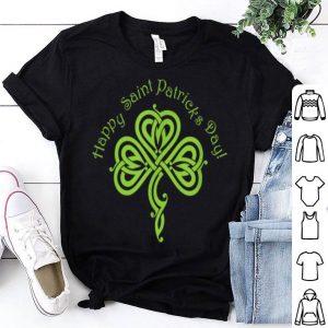 Top Happy Saint Patricks Day Pretty Celtic Shamrock shirt