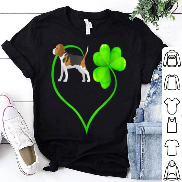 Top St Patricks Day Beagle Dog Mom Dad Love Irish Shamrock Kids shirt
