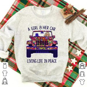 Hippie a girl & her car living life in peace shirt