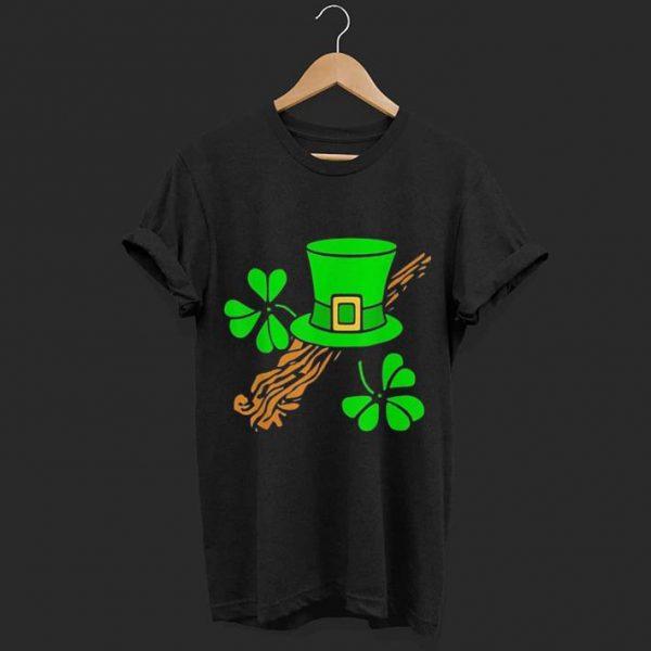 Leprechaun Hat and Lucky Shamrocks shirt