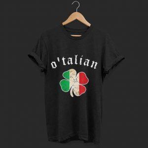 St Patricks Day Irish O'talian Italy Shamrock shirt